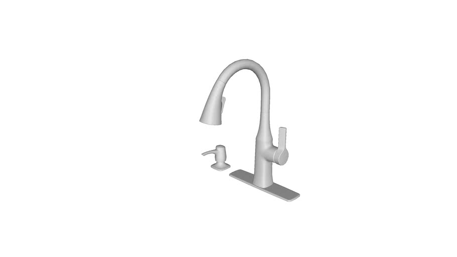 K R20147 Sd Rubicon R Pull Down Kitchen Sink Faucet 3d Warehouse