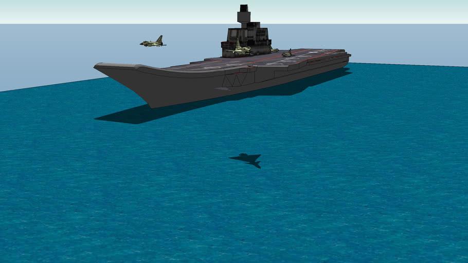 舰载J-10假象图