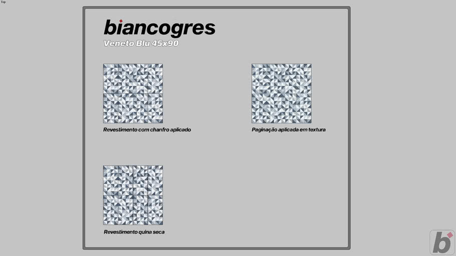 Vêneto Blu 45x90