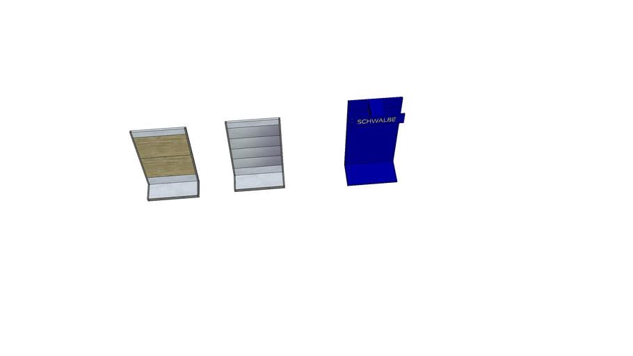 XLC Wand 1,25m breit, 2,20m hoch + Schwalbewand