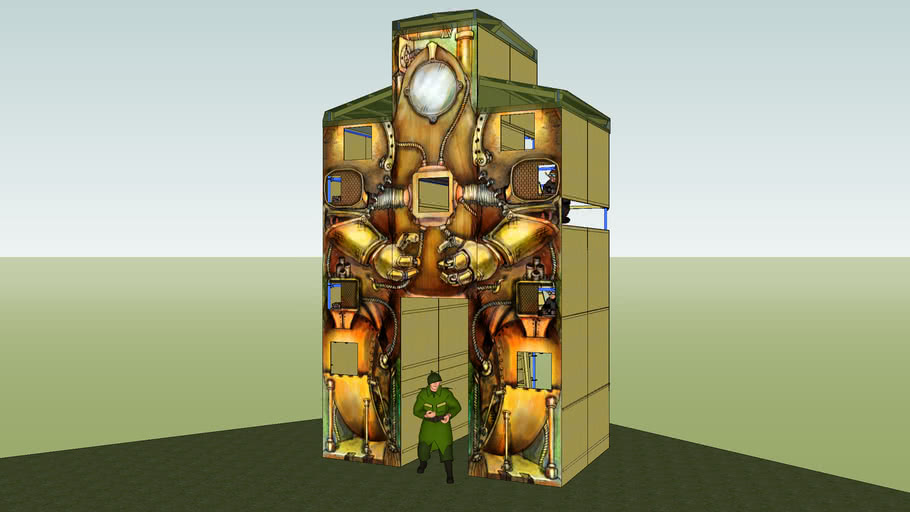 Steampunk Giant Robot, second draft