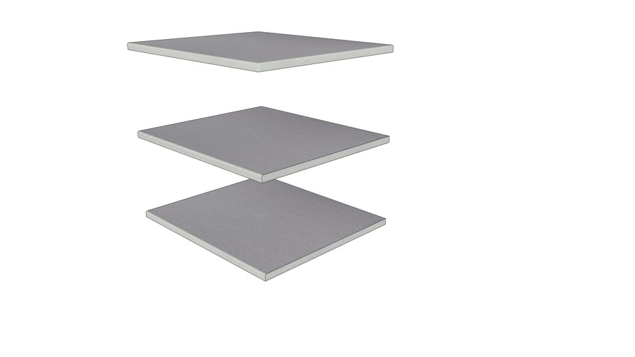 Urban Grey Porcelain Step 596 × 500 with  20mm Edge Pencil Round