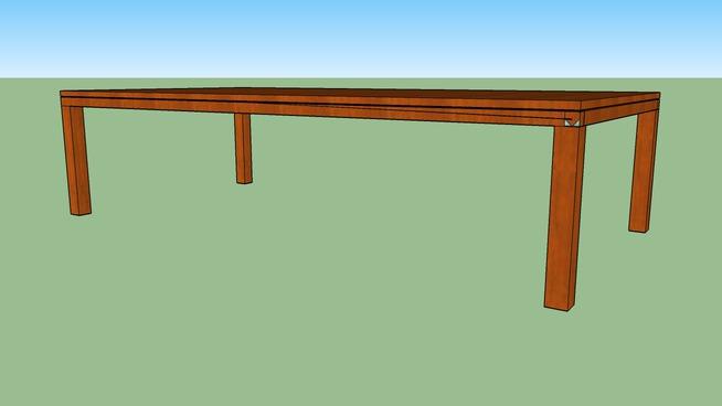 """Square Leg table 36""""x72"""""""