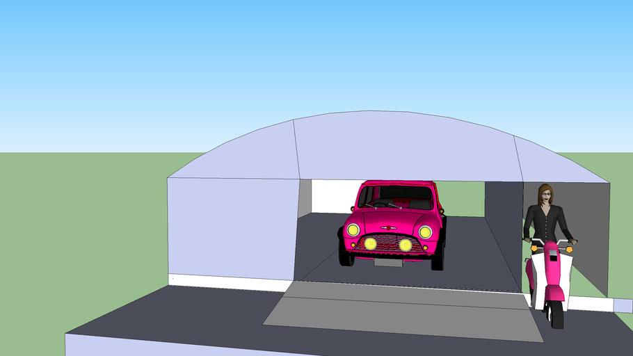 mini in tunnel