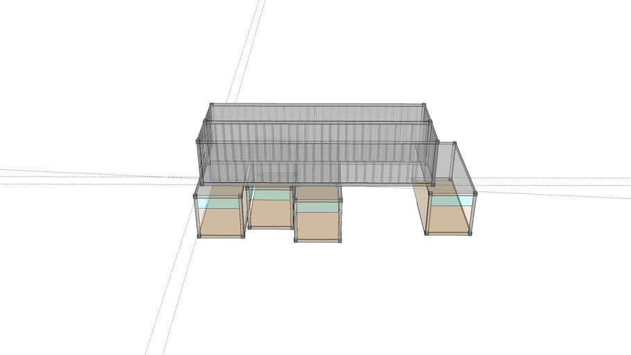 Container Home Outline 100m squared (approximately 300 ft squared)