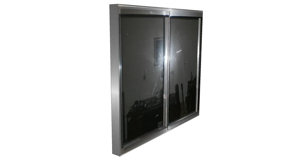 janela de aluminio simples