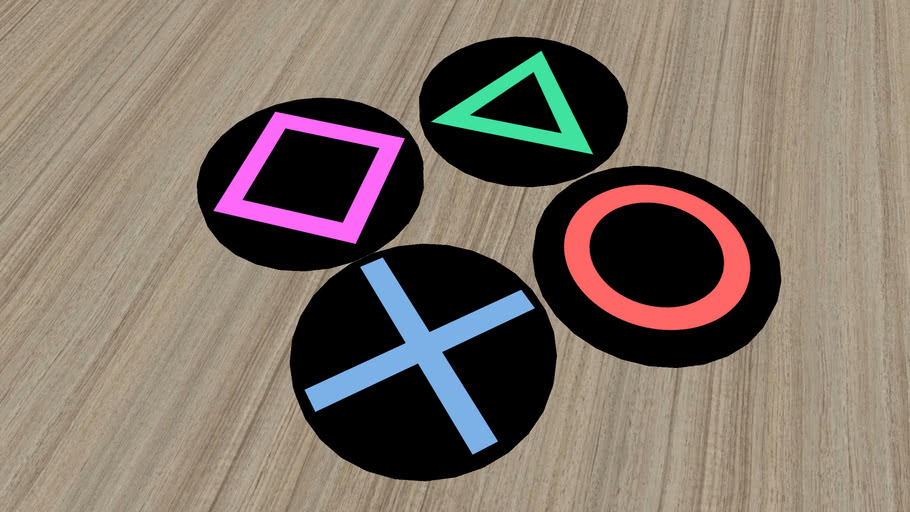 playstation Button modeling coasters PS 4 按鍵造型杯墊 杯墊