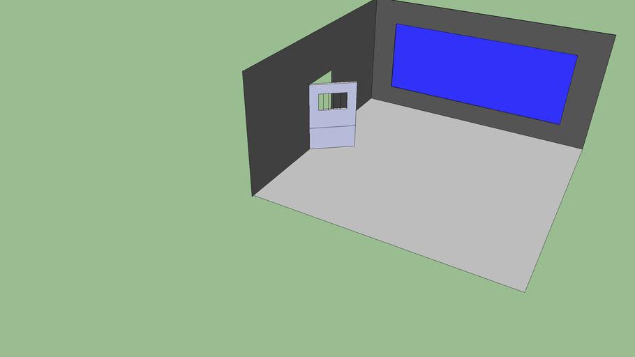 Piéces avec vitre transluicde d'un côté (Garde a vous)