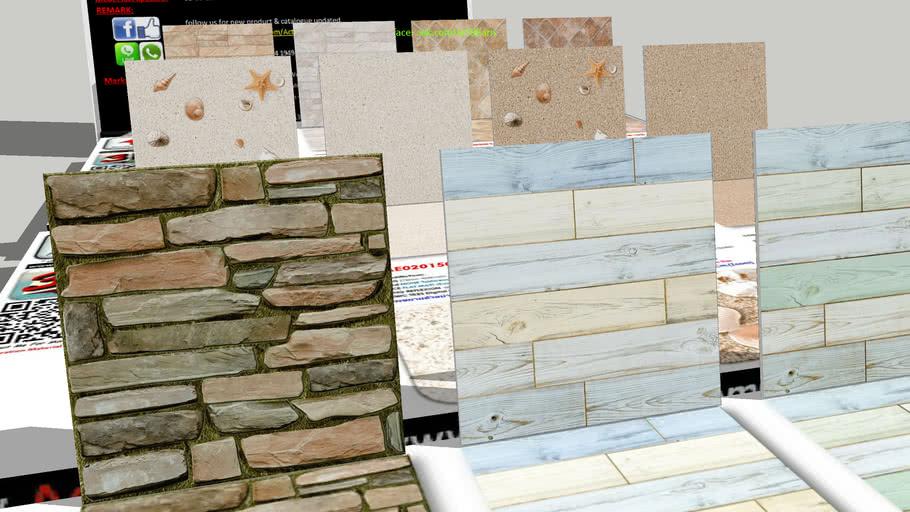 กระเบื้อง Digital Printing HD Ceramic Tiles ActUEarn3D Catalogue Part002