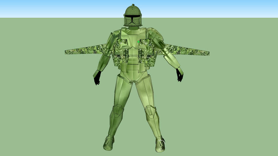 jet trooper with a jet pack