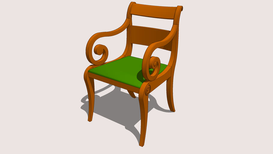 American Empire Arm Chair