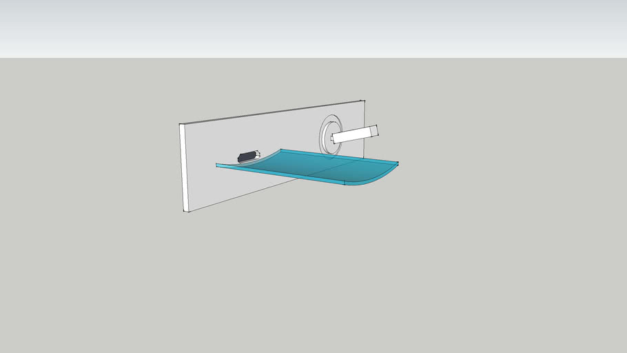 Glass single handle wall faucet
