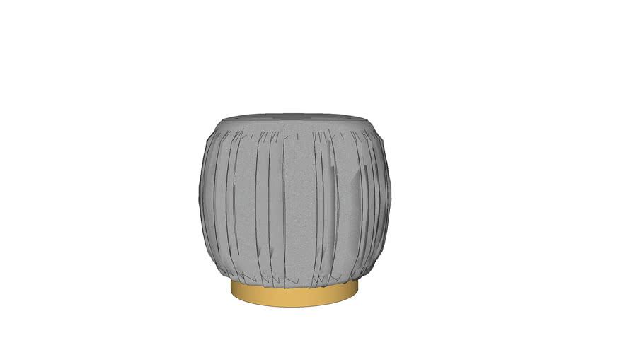 eureka design - pleated grey ottoman-stool Model by Pooh