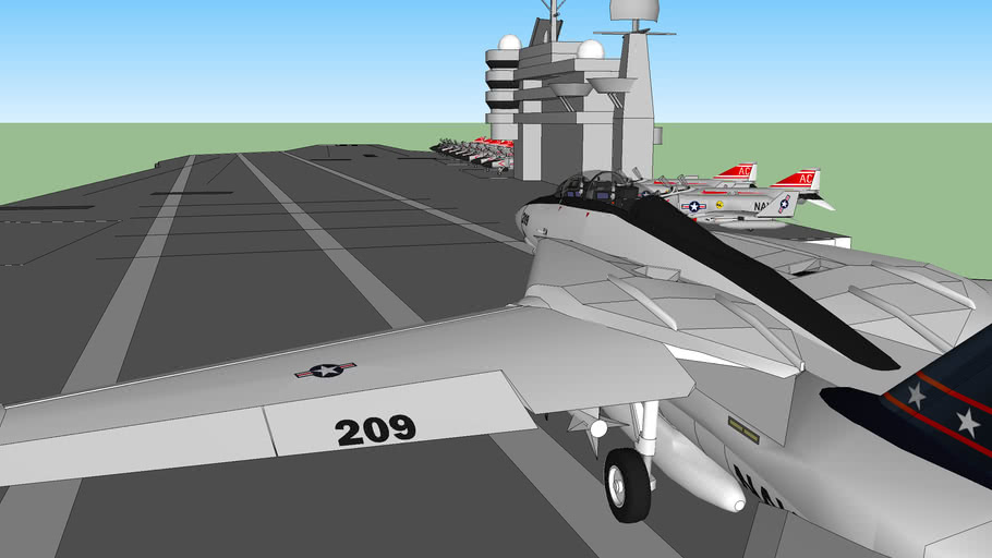 F-14 Inbound to Carrier