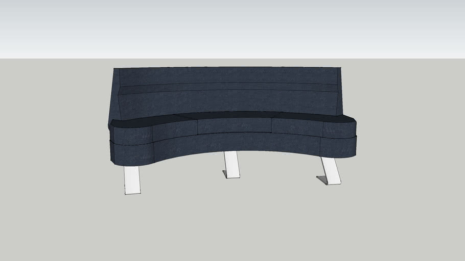 Cilades Curved Bench
