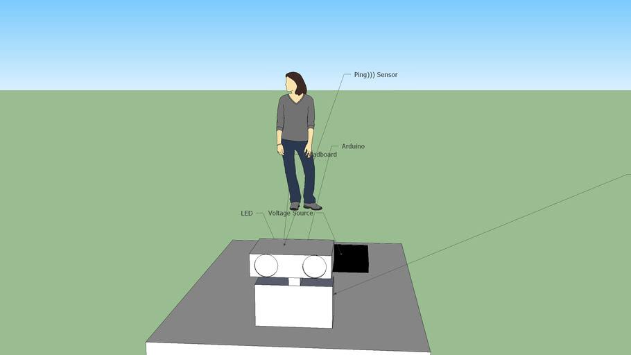 Arduino 4wd ping))) sensor