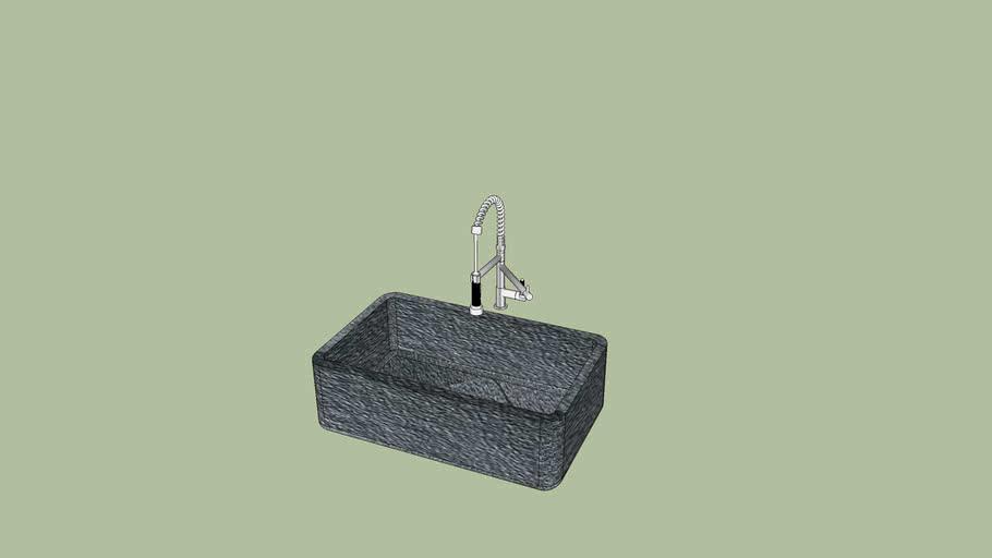 bac évier en pierre