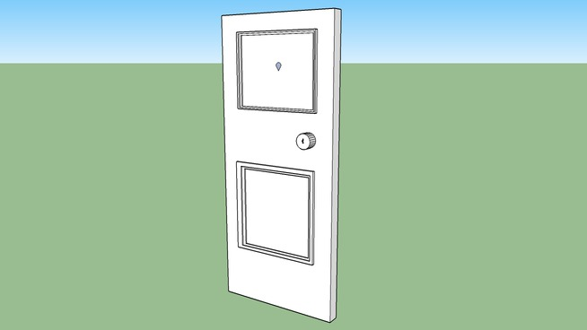 Front Door with key hole