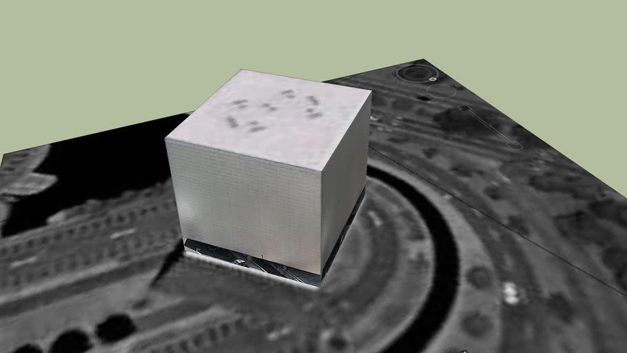 gran cubo.  dibujo pedro nel gomez
