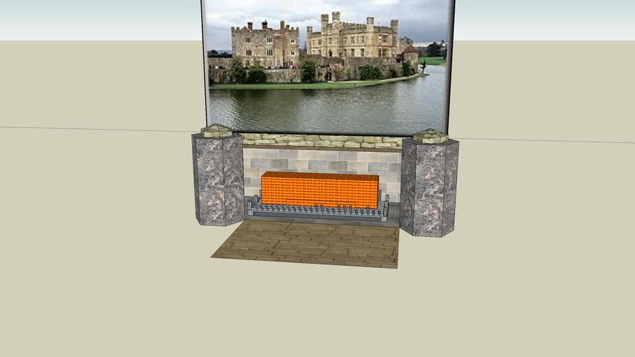 dualsided fireplace