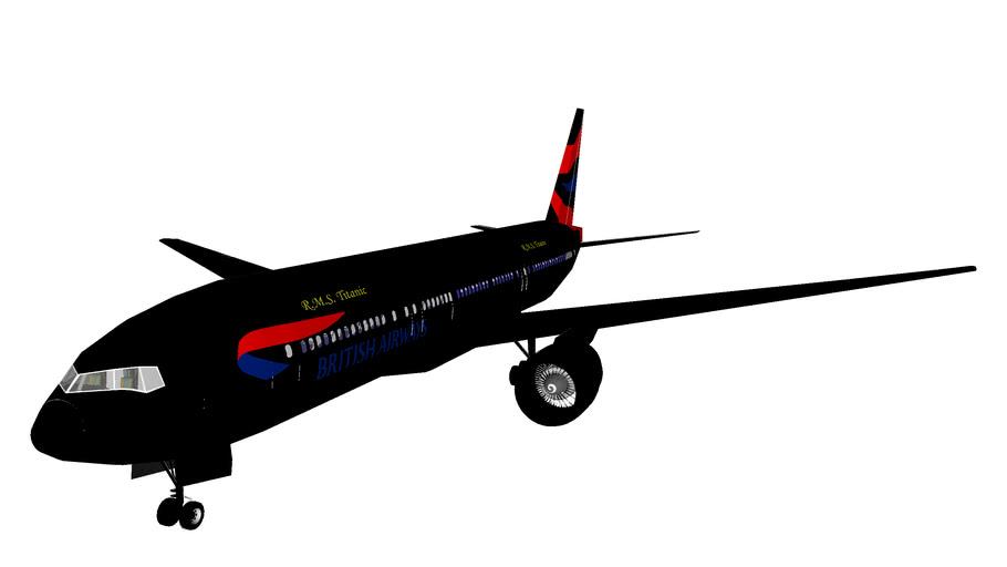 British Airways Boeing 777-200 R.M.S. Titanic Livery Edition
