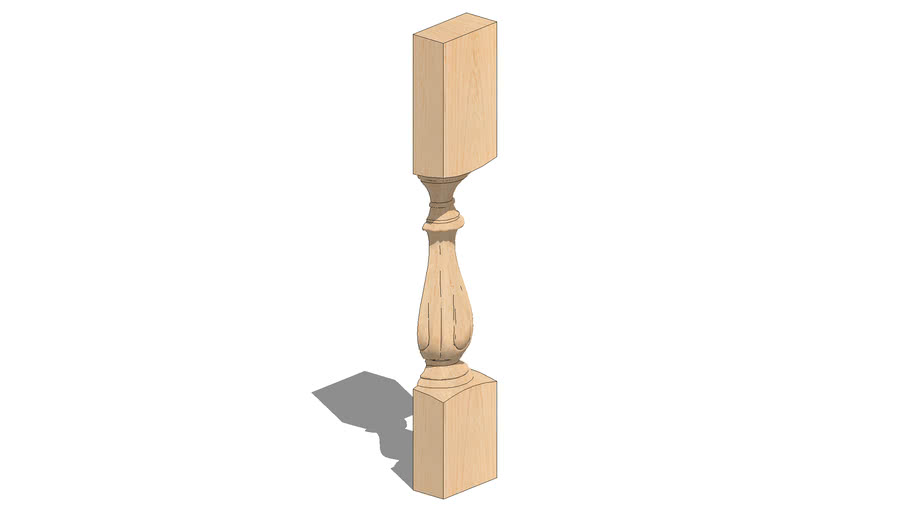 "01520215-2 Fleur Column - Split ( 6"" x 2.938"" x 35.5"" )"