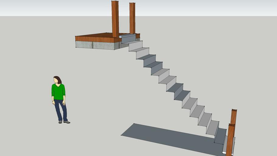 escalier droit a terminer