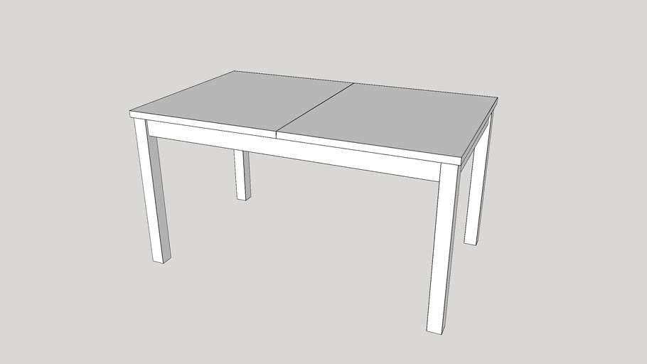 Ikea Bjursta Extendable Table White 3d Warehouse