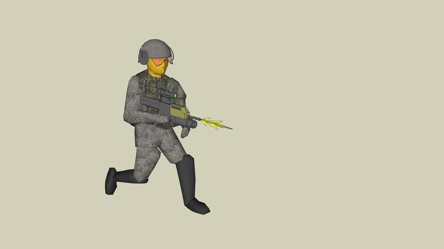 ROC Soldier Firing