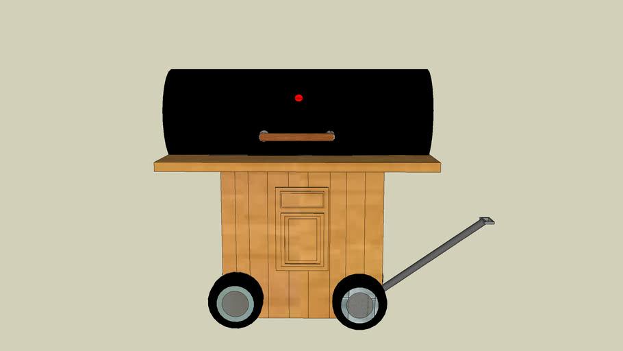 dual 55 gallon drum grill