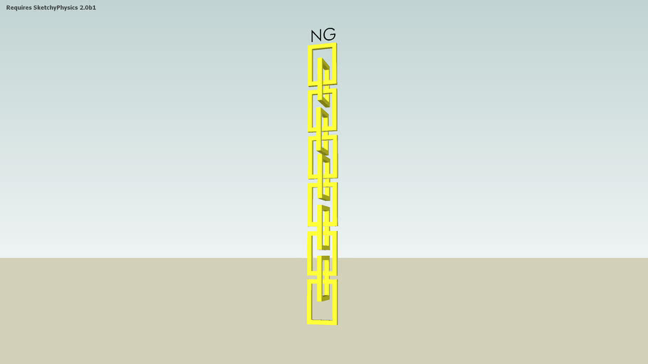 National Geographic logo chain (requires sketchyphysics)