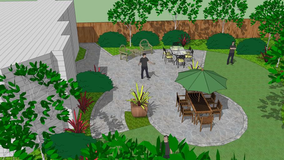 Radial Landscape Design | 3D Warehouse on symmetrical garden design, linear garden design, vertical garden design, asymmetrical garden design, rectangular garden design,