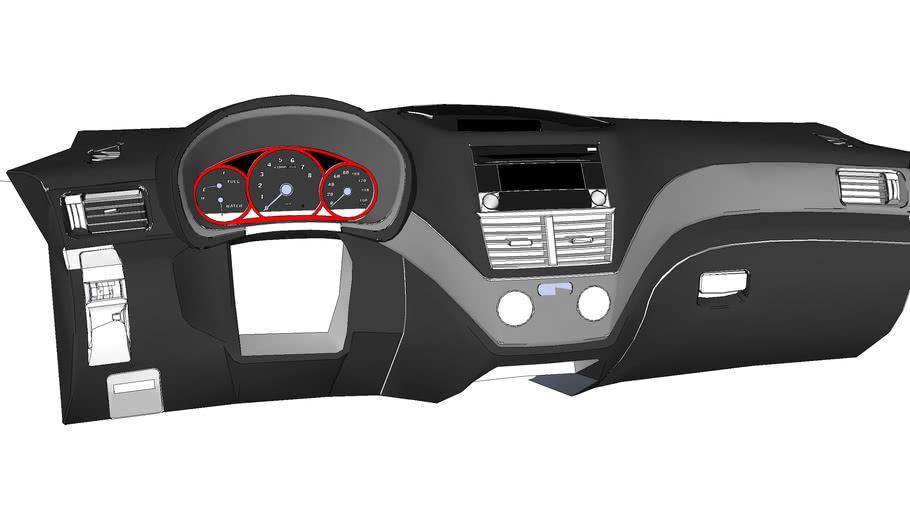 Subaru Dashboard (No Steering Wheel)