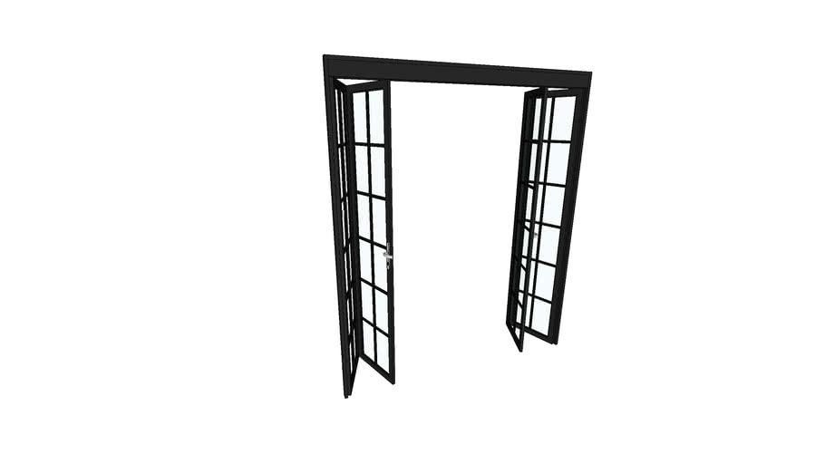 Puerta acero plegable