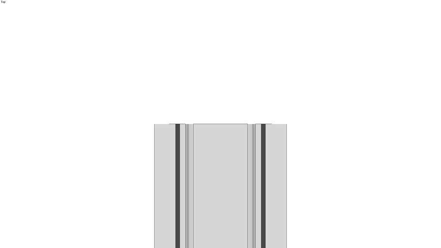 Rounded H-Shaped profile, grey cast iron or aluminium