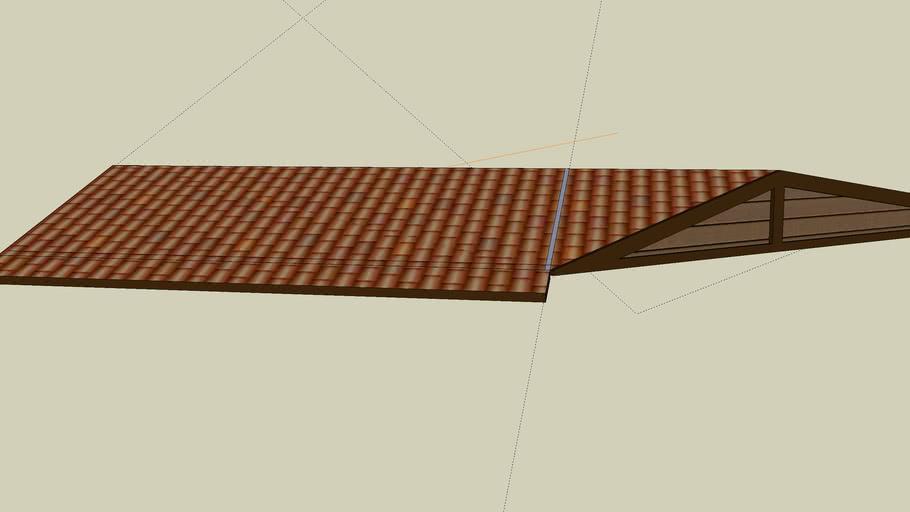 2 story studio roof