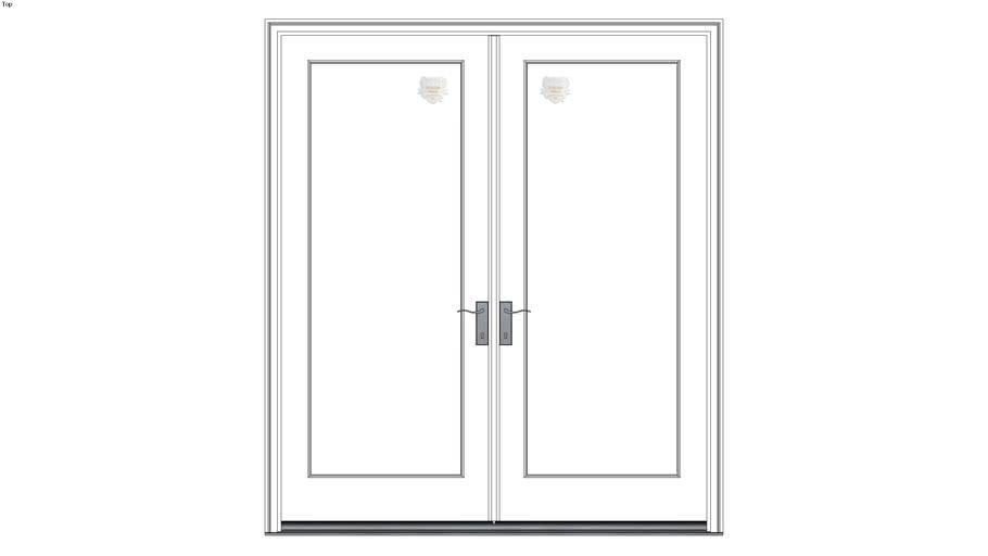 Weather Shield Series Wood French Door 2 Panel