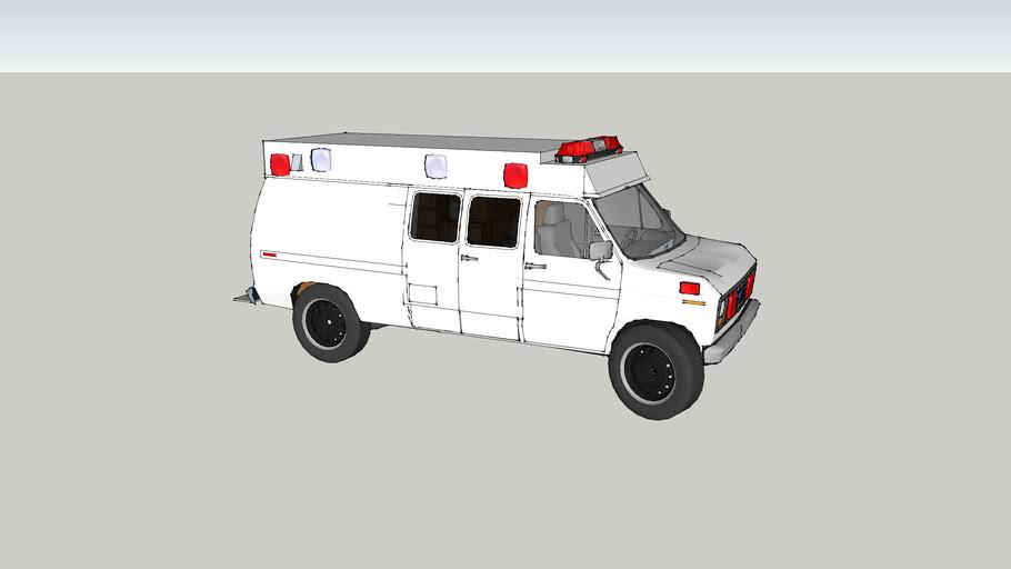 ambulance type ll ford f250 econoline model 1991