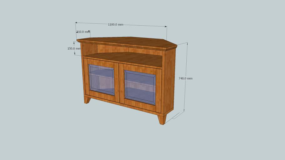 Corner tv entertainment cabinet