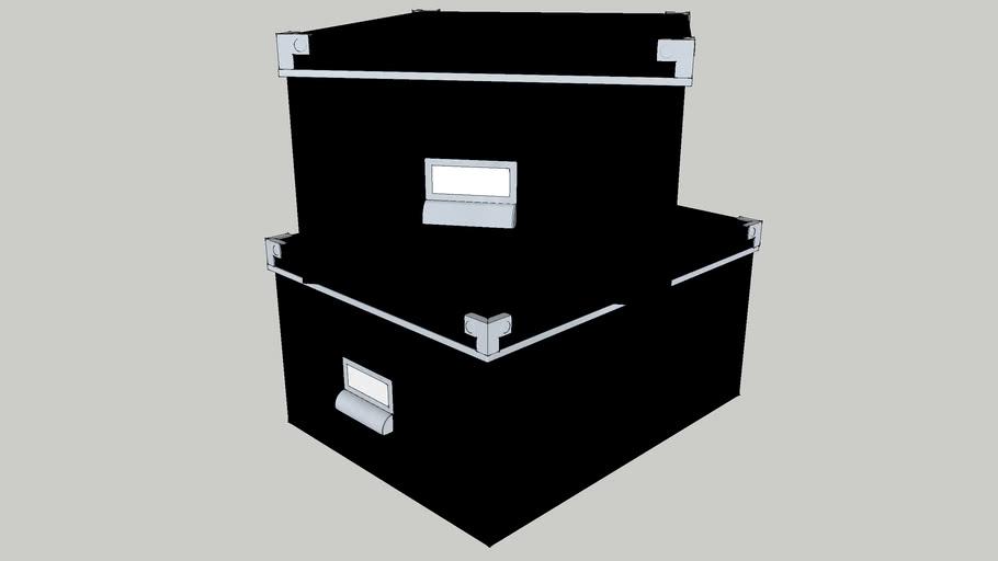IKEA KASSETT 27x35 Box with lid black