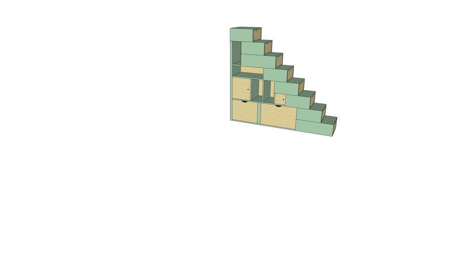 Escalier cube 200 X 50 X 220