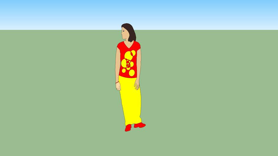 girl in shirt and skirt