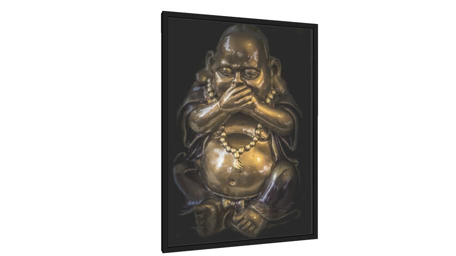 Quadro Buda com mãos a boca - Galeria9, por Gamas Fine Art