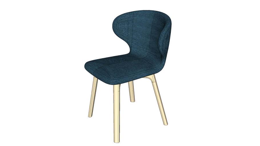 Minifrms - Mula - Chair - Wood Base