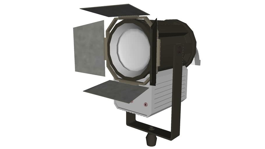 HMI Light 4000Watts with Barndoors - Detailed