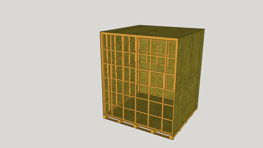 Large Stud Wall Crate LPI-759