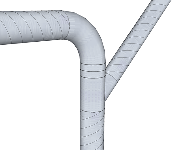 Spiral Pipe & Fittings for Dust Dust Collection