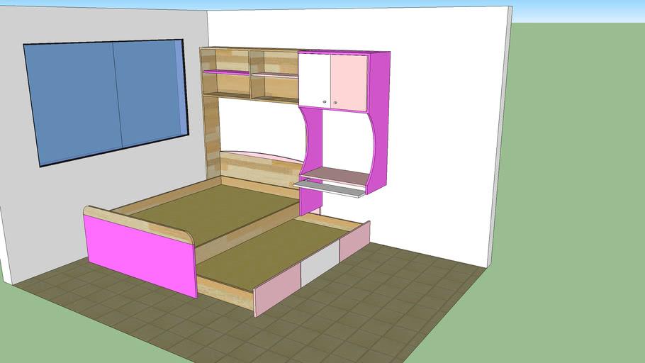 JUEGO DE CUARTO JUVENIL DUPLEX | 3D Warehouse