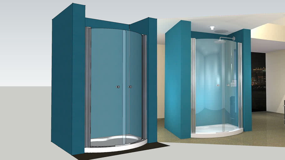 UniArc Curved Shower Door & 1275x900mm Tray