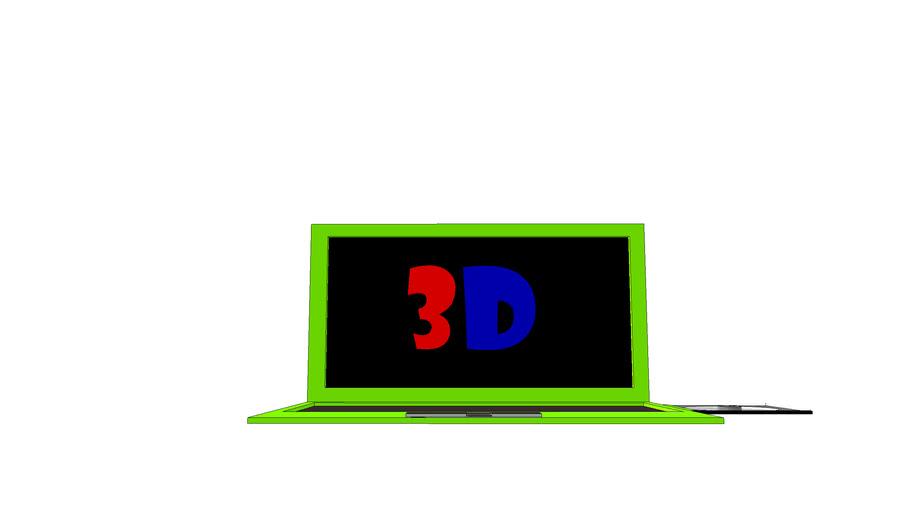 ordenador del futuro rojo y verde